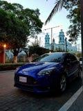 Vista azul Fotografia de Stock