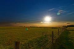 Vista azul, alaranjada e verde da paz Fotos de Stock Royalty Free