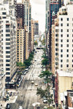 Vista aérea da 59th e 60th rua de Manhattan Fotos de Stock