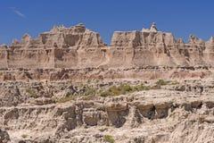 Vista Badlands μια ηλιόλουστη ημέρα στοκ εικόνες