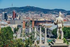Vista a Barcellona fotografie stock libere da diritti