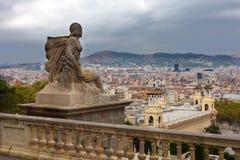 Vista a Barcellona Fotografia Stock