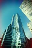 Grattacieli trattati trasversali di Lomo New York Fotografia Stock