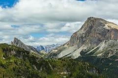 Vista bella delle alpi delle dolomia, Italia Fotografie Stock