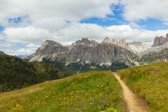 Vista bella delle alpi delle dolomia, Italia Immagine Stock Libera da Diritti