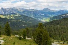 Vista bella delle alpi delle dolomia, Italia Fotografia Stock Libera da Diritti