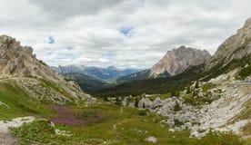 Vista bella delle alpi delle dolomia, Italia Fotografie Stock Libere da Diritti