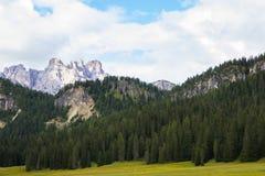 Vista bella delle alpi delle dolomia, Italia Immagini Stock