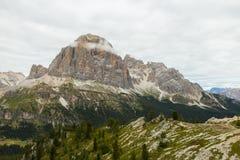 Vista bella delle alpi delle dolomia, Italia Immagini Stock Libere da Diritti