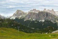 Vista bella delle alpi delle dolomia, Italia Fotografia Stock
