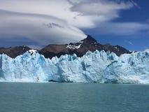Vista, bella vista spettacolare, ghiacciaio, mare del ghiaccio Immagine Stock