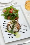 Vista bianca della parte superiore dell'insalata Fotografia Stock Libera da Diritti