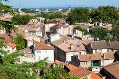 Vista Bird's-eye de Avignon Fotografía de archivo
