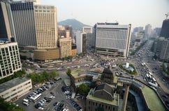 Vista bird's-eye della città Fotografia Stock