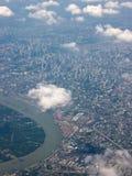 Vista Bird's-eye della città della priorità bassa Fotografie Stock