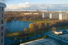 Vista bird's-eye di Mosca Fotografie Stock