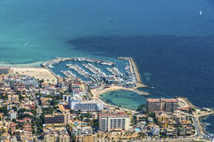 Vista Bird's-eye sull'isola Mallorca Fotografie Stock Libere da Diritti