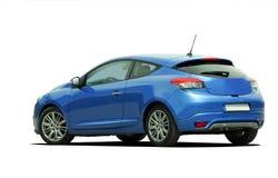 Vista blu della parte posteriore dell'automobile Fotografia Stock Libera da Diritti