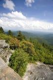 Vista blu della strada panoramica del Ridge Immagine Stock Libera da Diritti