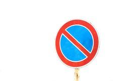 vista blu della tinta del segnale stradale di angolo largamente Fotografie Stock Libere da Diritti