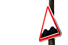vista blu della tinta del segnale stradale di angolo largamente Immagini Stock Libere da Diritti