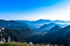 Vista blu di mattina Fotografia Stock Libera da Diritti
