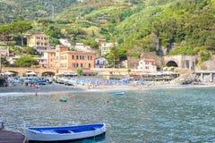 Vista bonita à praia da égua do al de Monterosso Imagem de Stock Royalty Free