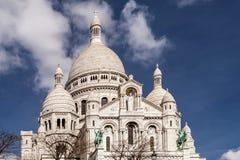 """Vista bonita da basílica do coração sagrado de Paris, conhecido geralmente como basílica ur de Sacré-CÅ do """", Paris, França imagens de stock"""