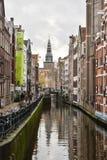 Vista bonita da cidade de Amsterdão, Países Baixos Fotos de Stock