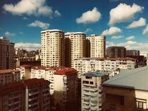 vista bonita da cidade de Baki imagens de stock