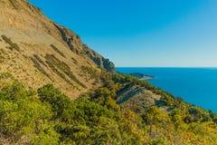 Vista bonita da costa do Mar Negro foto de stock