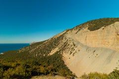 Vista bonita da costa do Mar Negro imagens de stock