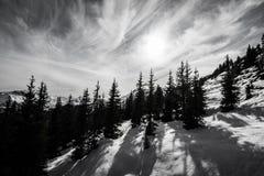 Vista bonita da estância de esqui de Kitzsteinhorn Fotografia de Stock Royalty Free