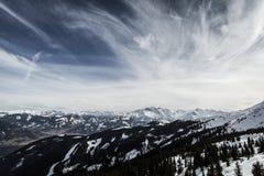 Vista bonita da estância de esqui de Kitzsteinhorn Imagem de Stock