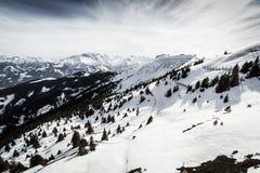 Vista bonita da estância de esqui de Kitzsteinhorn Imagens de Stock Royalty Free