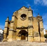 Vista bonita da igreja do porto de Santa em Córdova Fotos de Stock