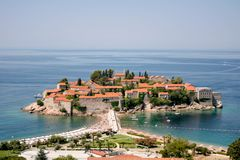 Vista bonita da ilha de St Stephen fotos de stock