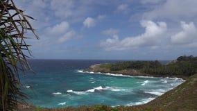 Vista bonita da praia com ondas filme