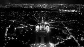 Vista bonita da torre Eiffel fotos de stock