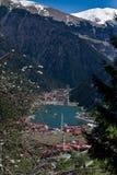 Vista bonita das montanhas e do lago Uzungol em Turquia Imagem de Stock Royalty Free