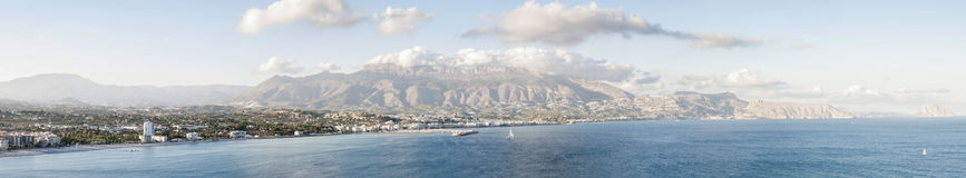 Vista bonita de Altea, Espanha Imagens de Stock Royalty Free