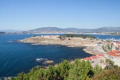 Vista bonita de Baiona Fotos de Stock Royalty Free