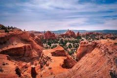 Vista bonita de cima no parque estadual da bacia de Kodachrome Fotos de Stock