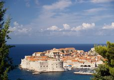Vista bonita de Dubrovnik Fotografia de Stock Royalty Free