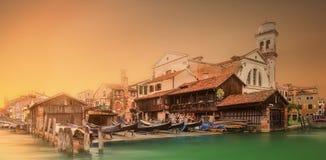 Vista bonita de Grand Canal em Veneza Imagem de Stock Royalty Free