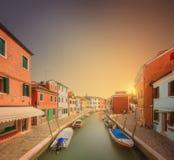 Vista bonita de Grand Canal em Veneza Fotos de Stock Royalty Free