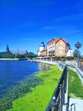 Vista bonita de Kaliningrad Rússia foto de stock royalty free
