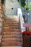 Vista bonita de Sirmione, Bríxia Itália Fotos de Stock Royalty Free