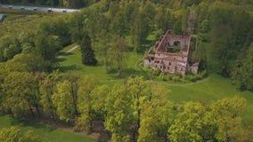 Vista bonita do ar à geometria da paisagem no parque do ` s de Catherine video estoque