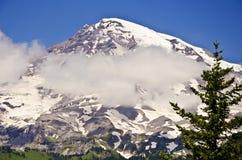 Vista bonita do Monte Rainier fotos de stock royalty free